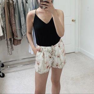 Haute Hippie | Floral Print Silk Organza Shorts